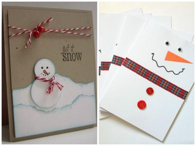 © etsy  © stampingwithlol  Для той открытки, что слева, нужен неокрашенный картон, белая