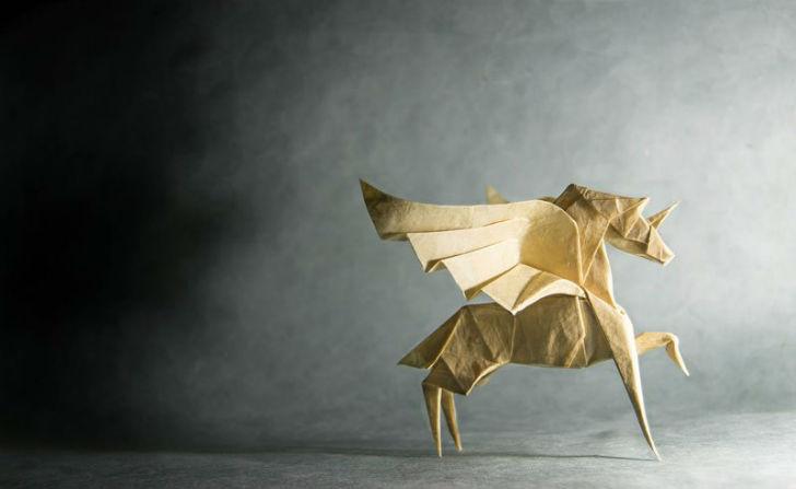 Мастер оригами 80-го уровня (16 фото)