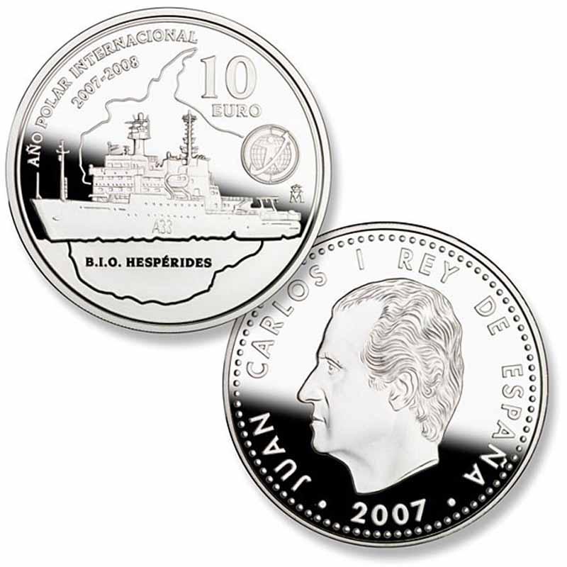 Испания, исследовательское судно Hesperides, 2007 год, 10 евро.jpg
