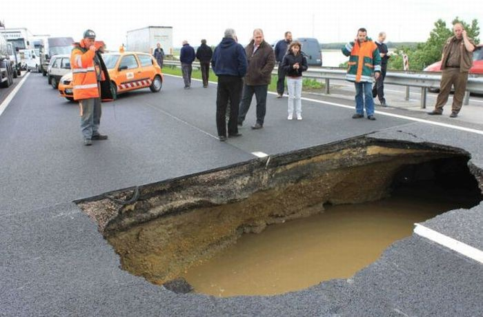 ямы на дорогах