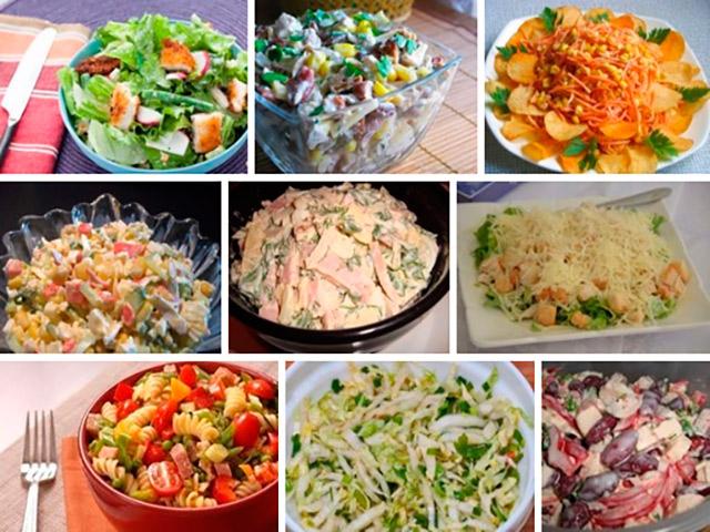 Вкусные простые салаты на каждый день рецепты с