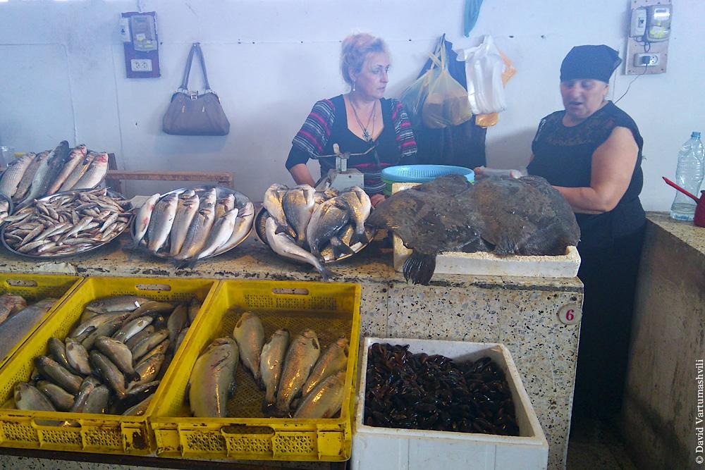 Грузия, Батумский рыбный рынок и ресторан