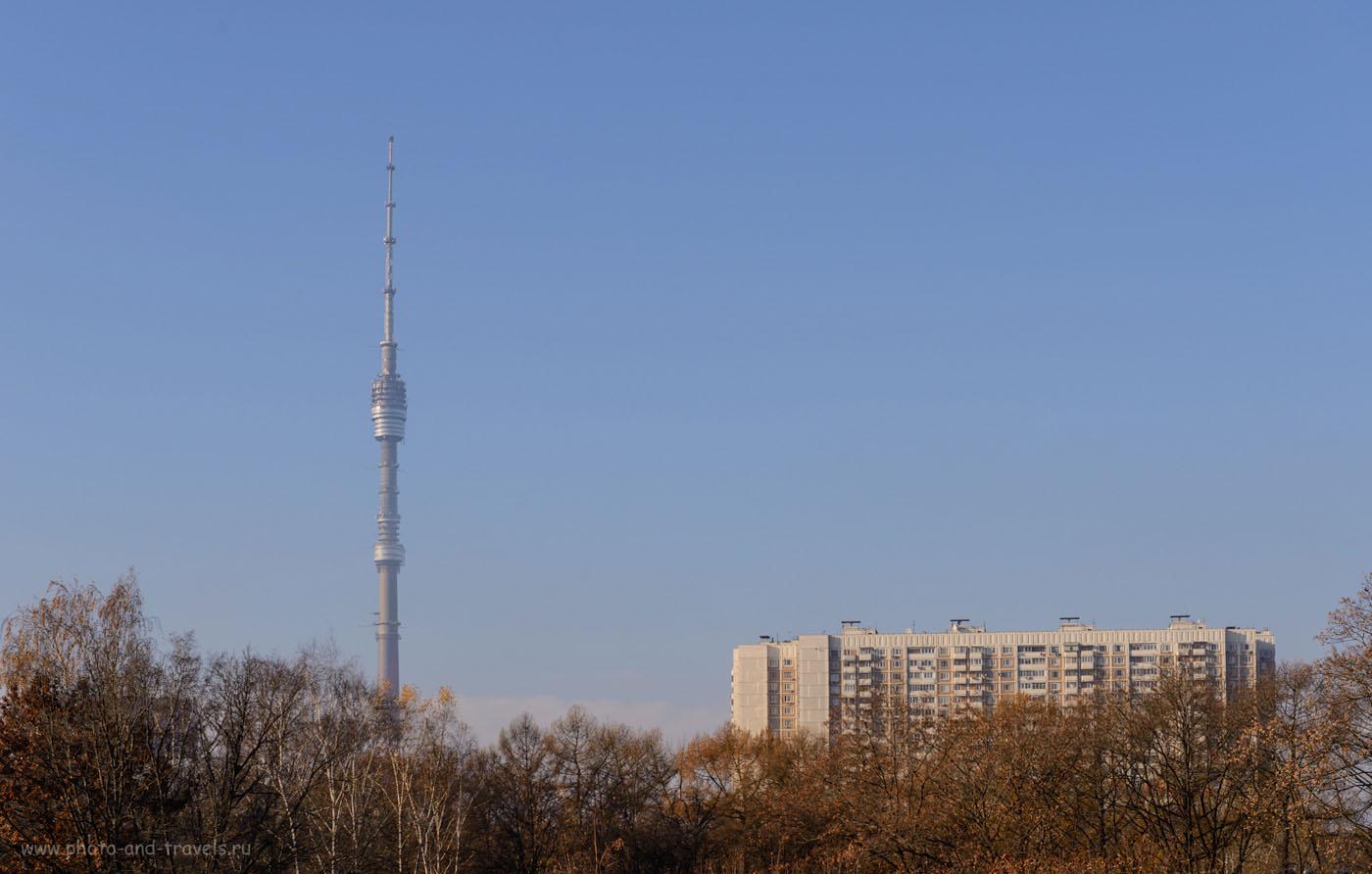 Фотография 3. Останкинская телебашня имеет высоту 540,1 метра и считается 8-м в мире сооружением по высоте. 1/250, 9.0, 100, 70.