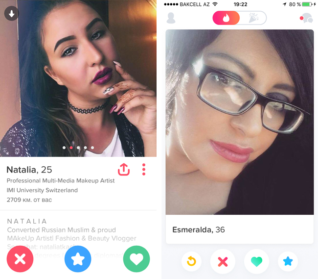 Девушки из Tinder в Баку