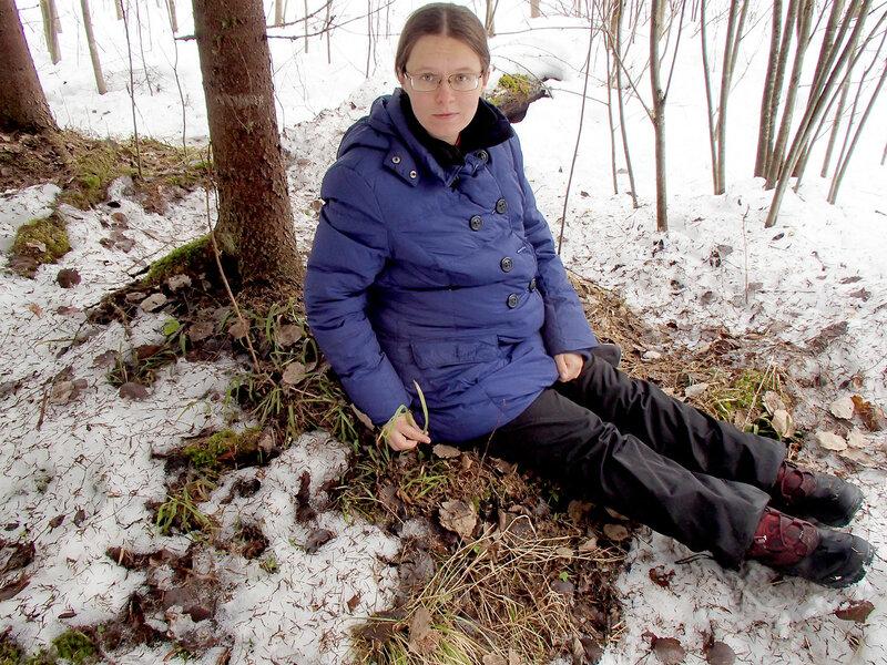 на девятом месяце беременности в лесу весной