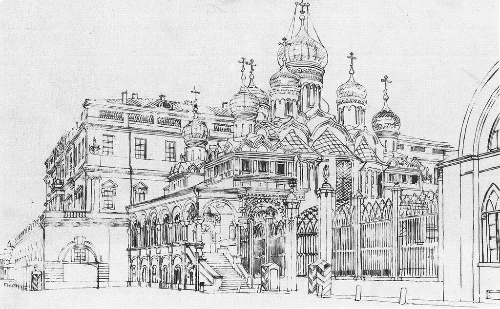 460216 Благовещенский собор в Кремле 1838 Гертнер (Gaertner) Иоганн Эдуард Филипп.jpg