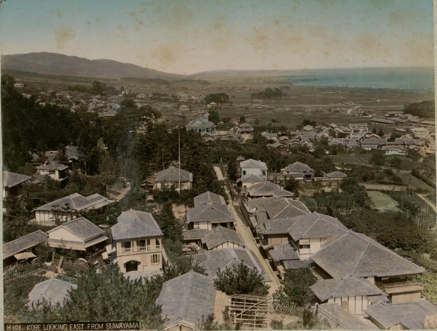 Кобе. Вид на восток от Саваямы