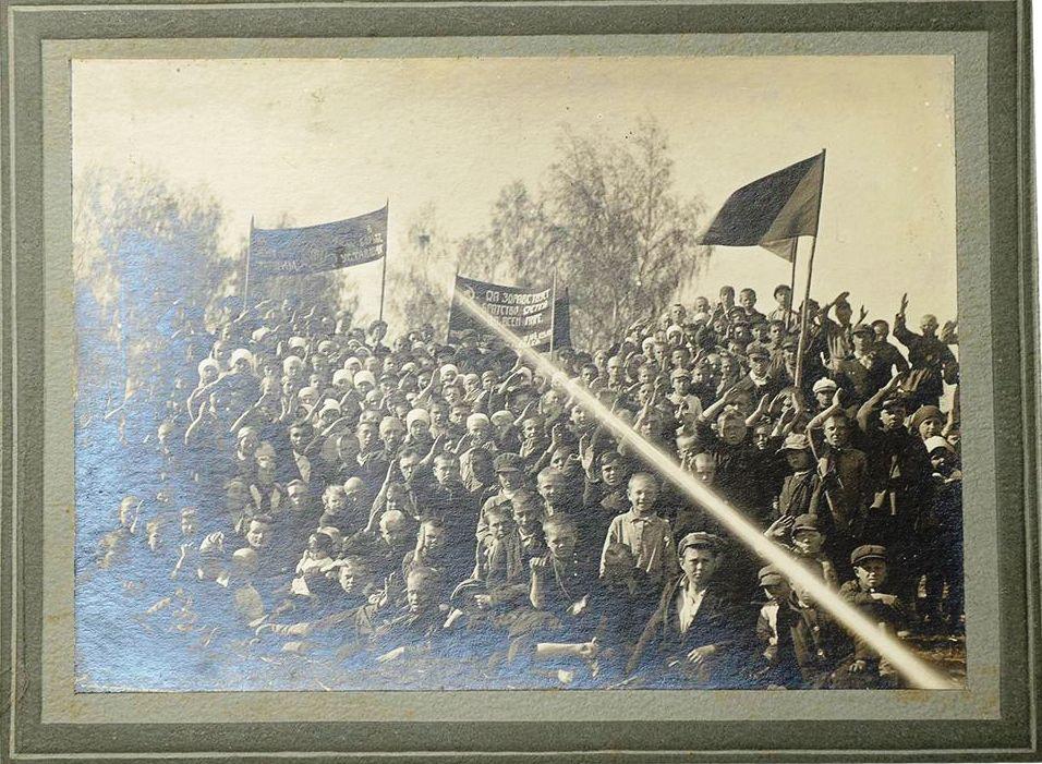 1920-е. Фото пионерского отряда