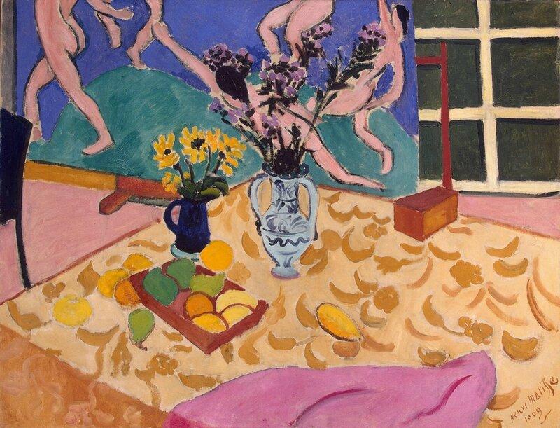 Эрмитаж: Матисс, Анри - Фрукты, цветы, панно Танец