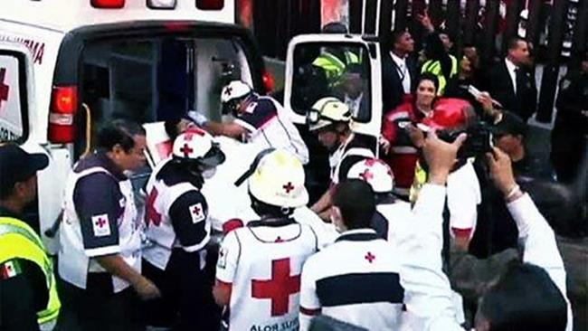 Взрыв здания нефтяной компании в Мексике. Фото
