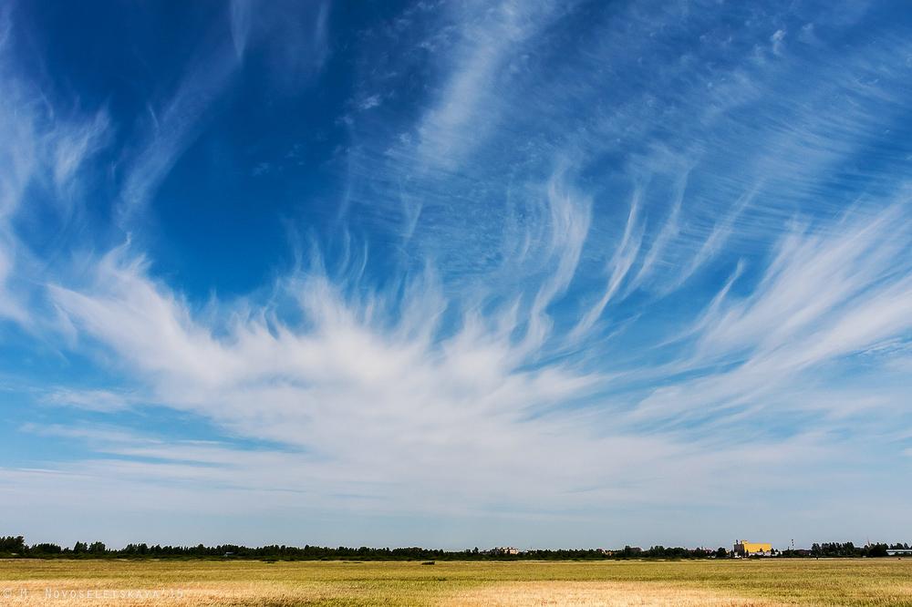 4 июля мы снимали прилет пилотажной группы на военный аэродром «Пушкин». Небо радовало не только сол