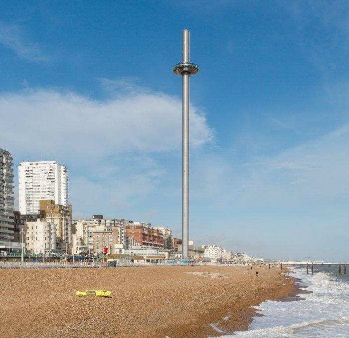 3. Конструкция установлена на одном из старейших в Великобритании, легендарном пирсе West Pier. Прич
