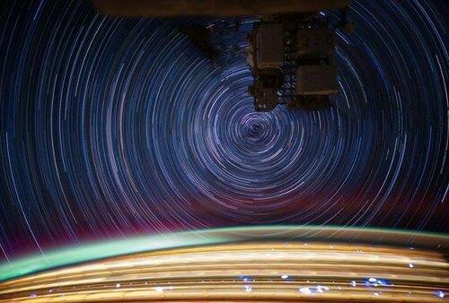 Космические фотографии с длительной выдержкой