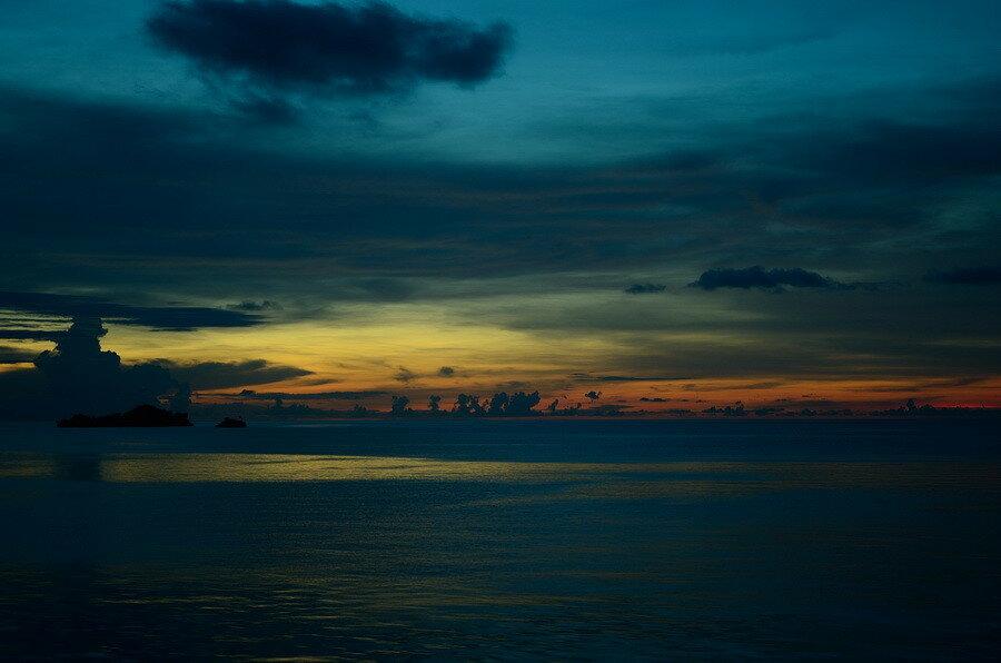 Закат на Тогеанских островах