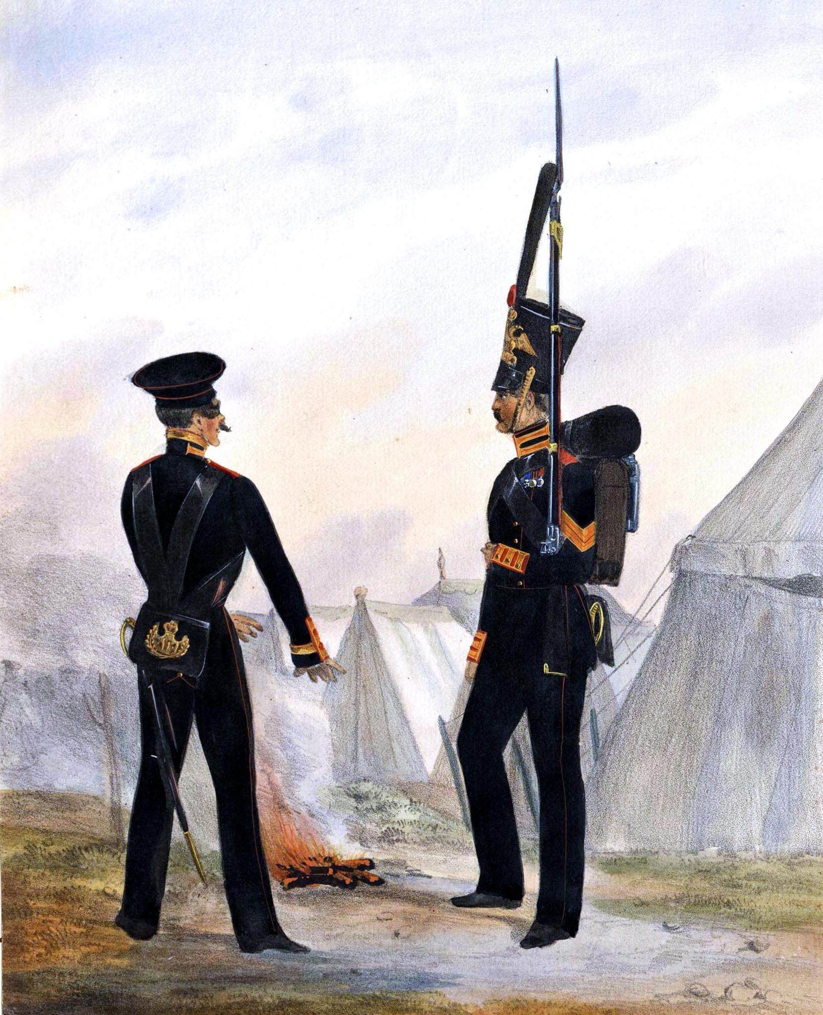 017. Kaiserthum Russland Garde-Regiment Finnland: Unteroffizier und Soldat im Paradeanzug / Российская империя
