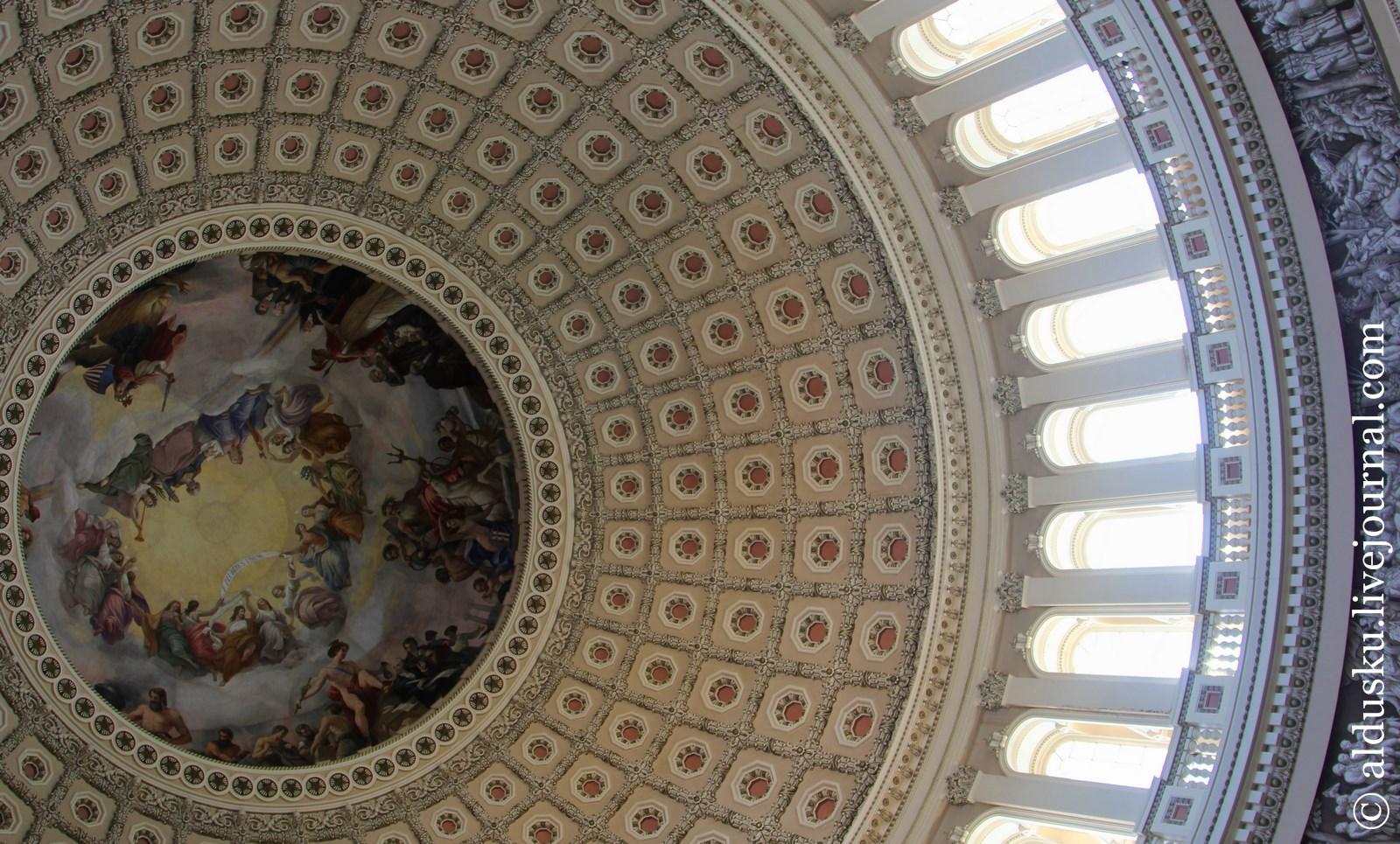 «Апофеоз Вашингтона» работы Константино Брумиди (Costantino Brumidi 1805–1880) 1865
