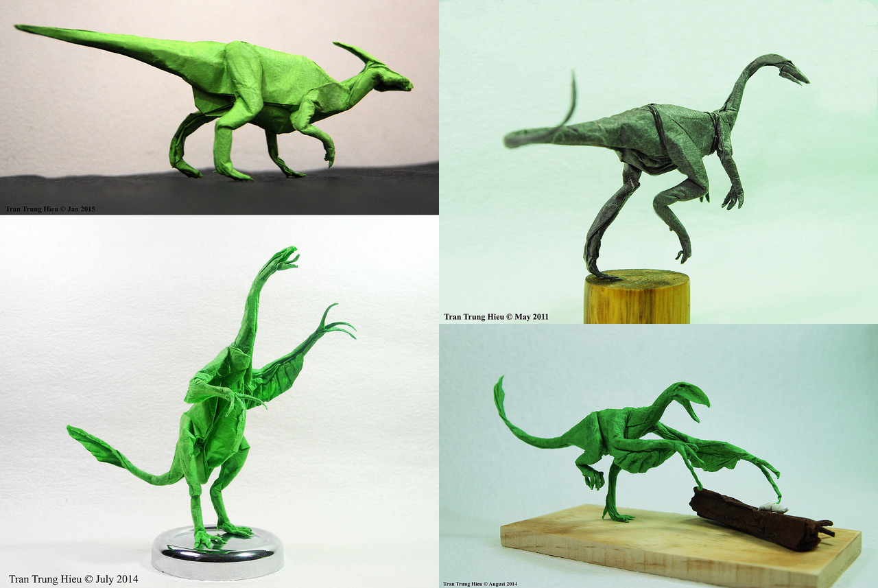 Masterful Dinosaur and Creature Origami by Adam Tran