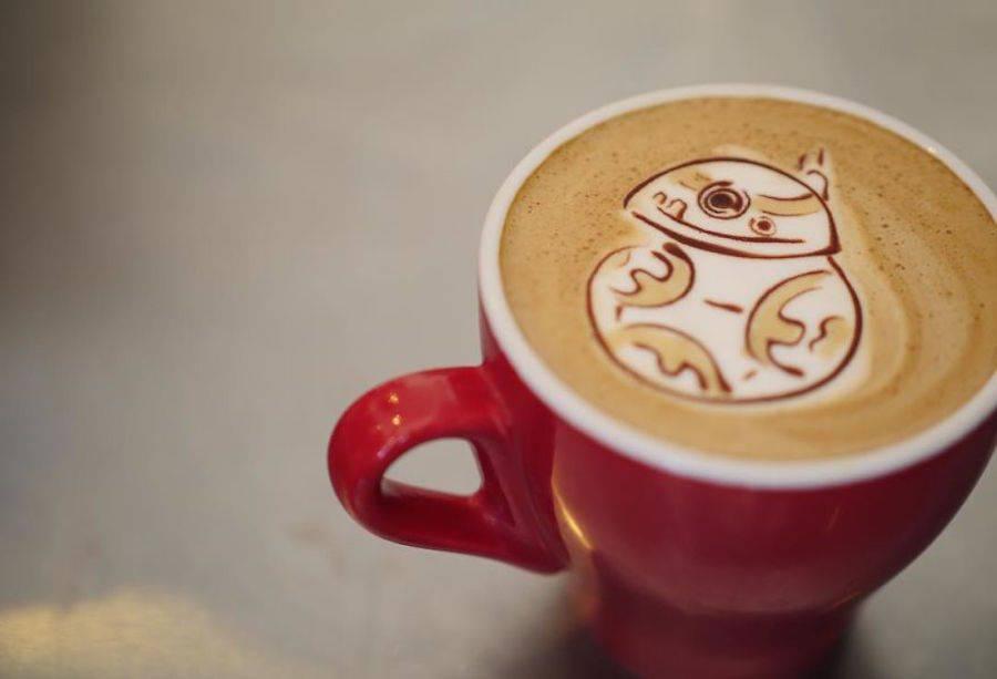 Cute Drawings on Coffee Foam