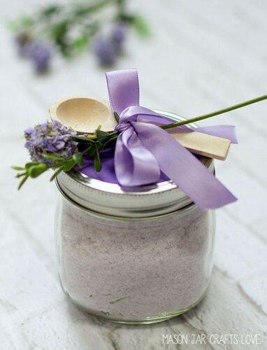 Декорируем соль для ванны