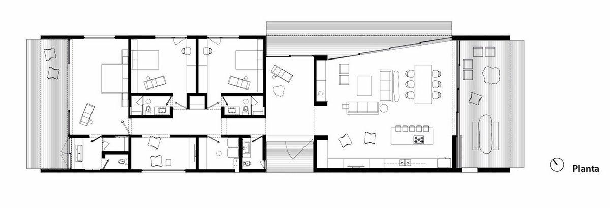 GG House, Elias Rizo Arquitectos, частные дома в Мексике фото, дом на склоне проект, деревянная веранда фото, терраса в частном доме фото