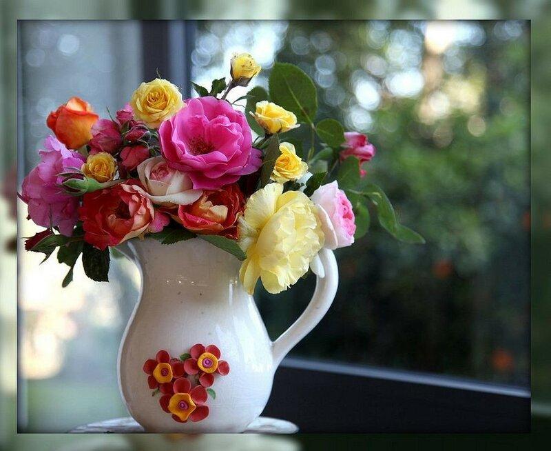 Открытка с днем рождения ваза