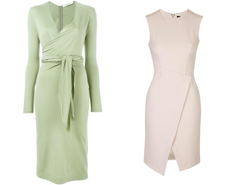 модный фасон платья 2016: платья с запахом