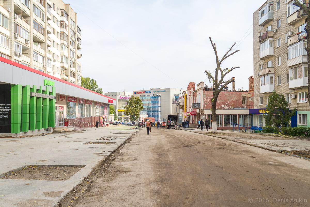 Строительство пешеходной зоны Саратов фото 23