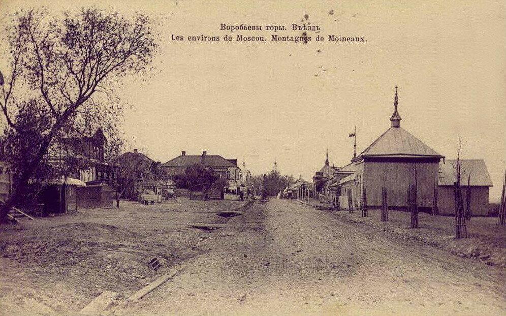 20674 Воробьевы горы. Въезд нач.1900-х.jpg