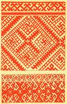 Образцы орнаментов. Браное ткачество. 19 в. Вологодская губ.