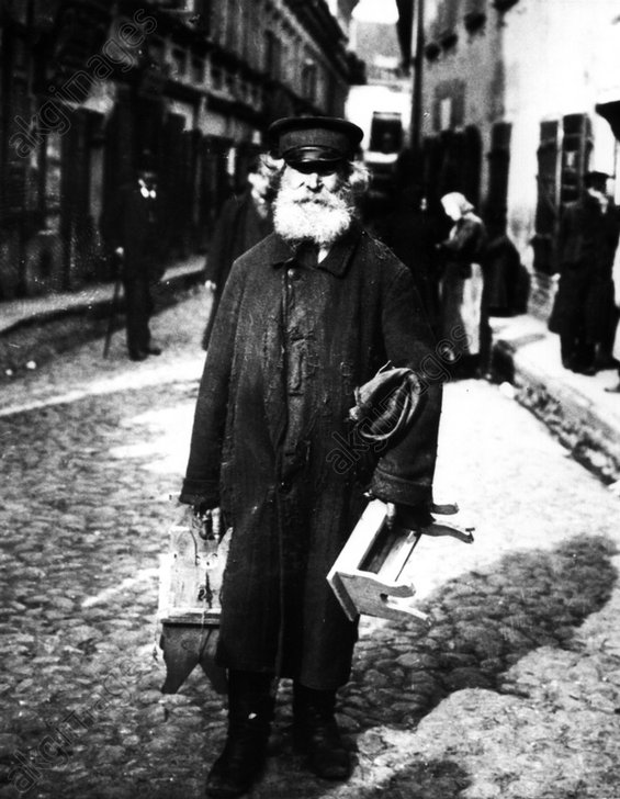 Jьdischer Hдndler in Wilna / 1915 - Jewish salesman in Wilna / 1915 -