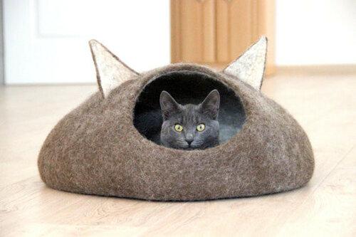 Кошкины домики из войлока