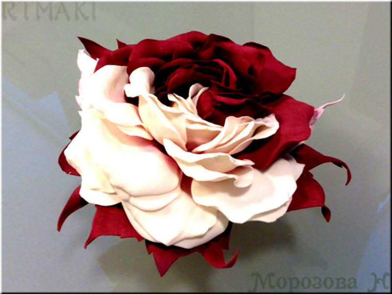 Роза белая из фоамирана мастер класс с пошаговым фото