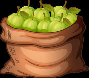 яблоки в мешке