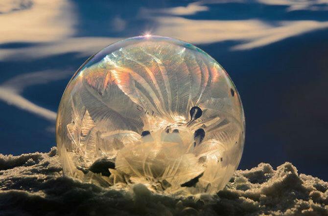 Уникальная зимняя съёмка Хоуп Картер   мистические кристаллы в мыльных пузырях