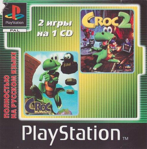 [PS] [2 in 1] Croc: Legend of the Gobbos & Croc 2 [SLUS-00530/00634] [Koteuz] [RUS]