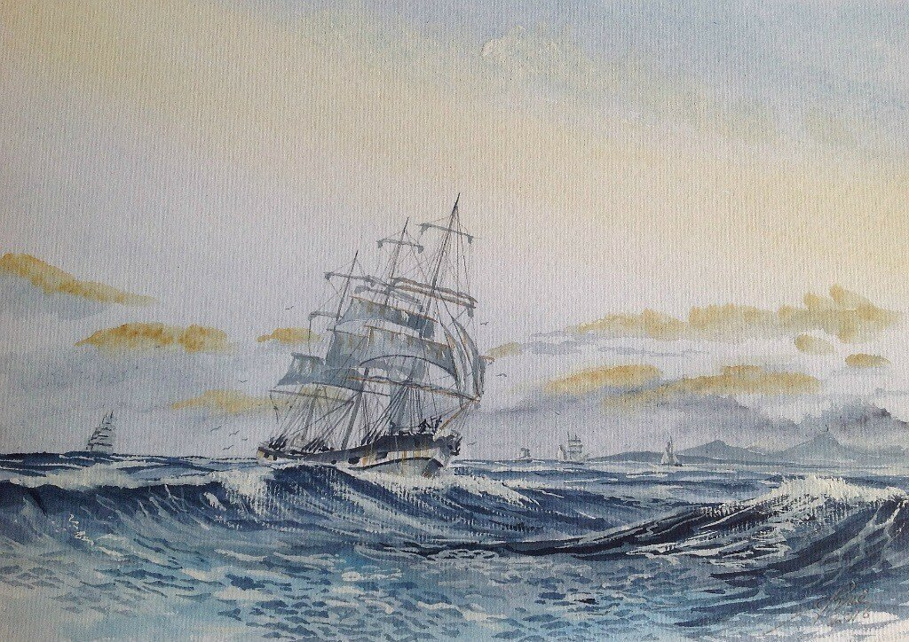 This afternoon's painting is the ship Grace Harwa.