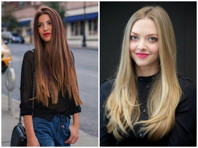 © lovely-hairstyles.com  © teenvogue.com  Гладкие иблестящие прямые волосы выглядят оче