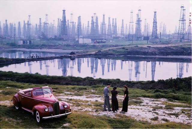 Нефтяные вышки в Сигнал-Хилл, 1941 год.