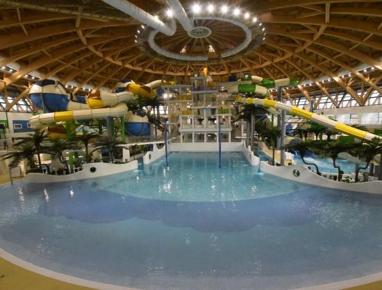ВНовосибирске начал свою работу крупнейший в Российской Федерации крытый аквапарк