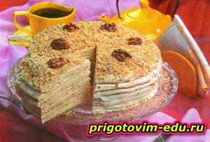 Медовый тортик со сметанным кремом