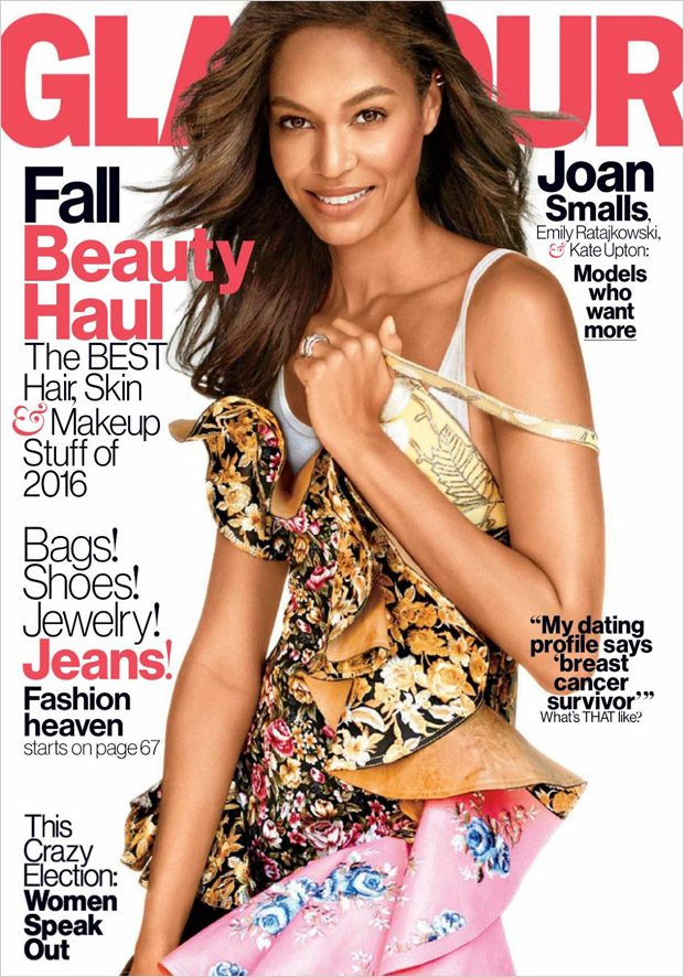 Supermodel Joan Smalls Stars in Glamour US October 2016 Cover Story