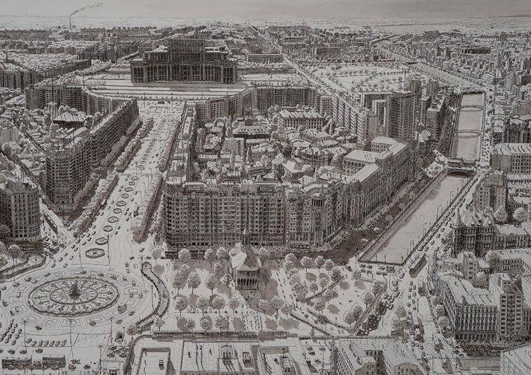 Cityscapes - Artist draws major cities of the world thanks to his impressive visual memory
