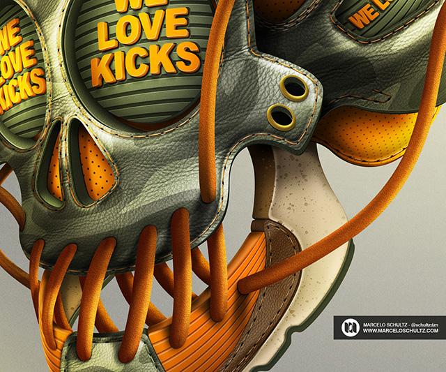 We Love Kicks by Marcelo Schultz