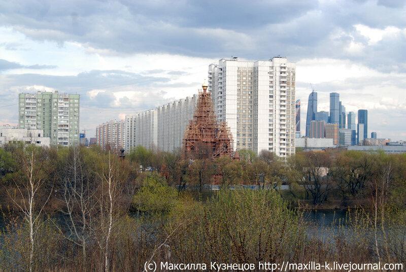 Серафимовская церковь и Москва-сити