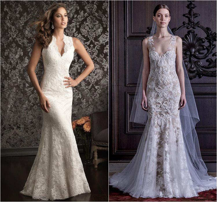 Кружевные свадебные платья 2016 фото 9