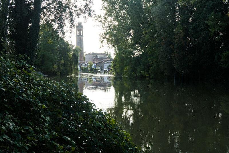 колокольня и река Силе (fiume Sile)