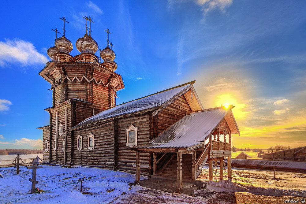 Карелия, Кижи, Церковь Покрова Богородицы