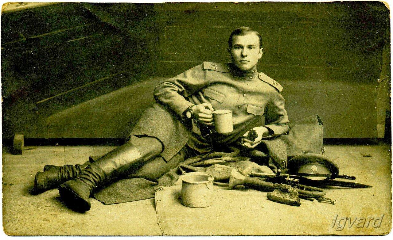 Николай Роменский. Музыкальная команда 9-го Кавказского полка. 1915