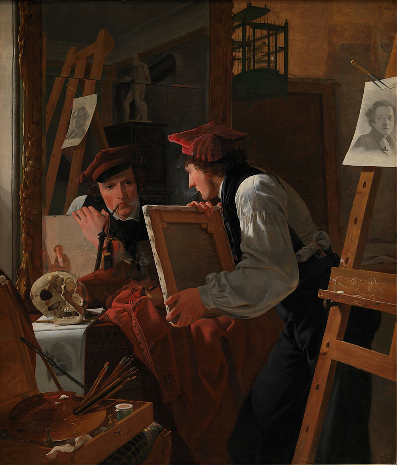 Wilhelm_Bendz_-_A_Young_Artist_(Ditlev_Blunck)_Examining_a_Sketch_in_a_Mirror_-_Google_Art_Project.jpg