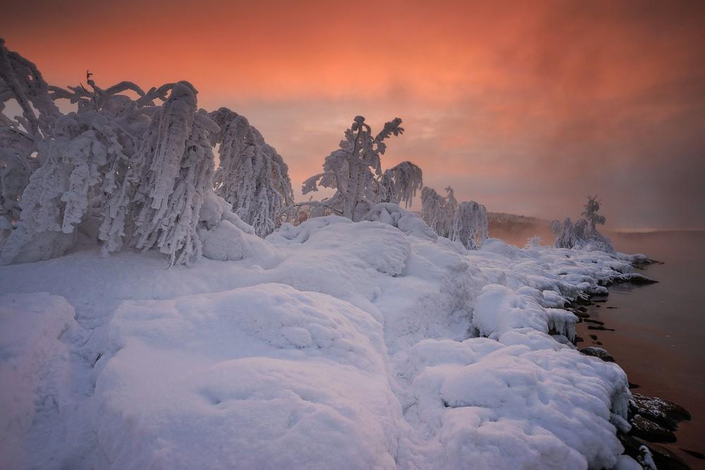 Зимние пейзажи на снимках Романа Горячего